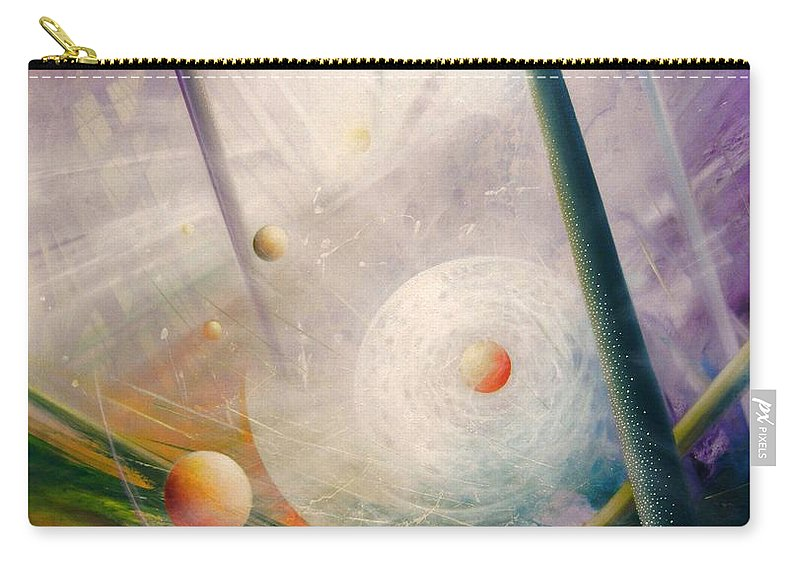 Sphere Carry-all Pouch featuring the painting Sphere New Lights by Drazen Pavlovic