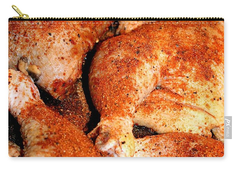 Paprika Carry-all Pouch featuring the photograph Spicy Chicken by Henrik Lehnerer