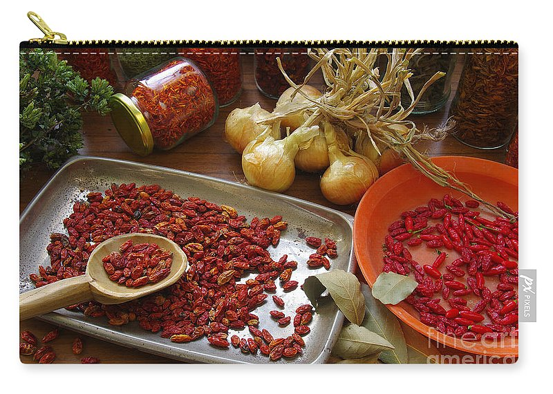 Aromatic Carry-all Pouch featuring the photograph Spicy Still Life by Carlos Caetano