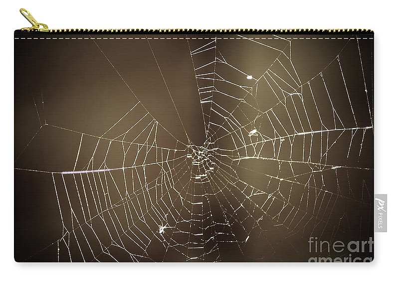 Yhun Suarez Carry-all Pouch featuring the photograph Spider Web 1.0 by Yhun Suarez