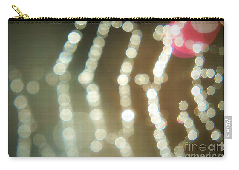 Yhun Suarez Carry-all Pouch featuring the photograph Spider Web Bokeh 3.0 by Yhun Suarez