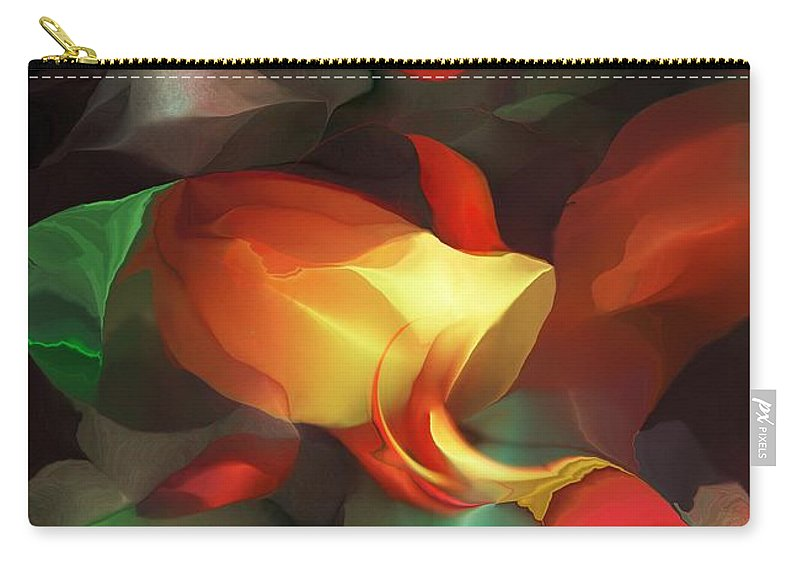 Fine Art Carry-all Pouch featuring the digital art Spilled by David Lane