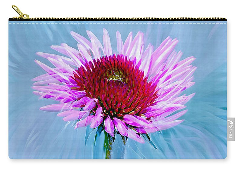 Flowers Carry-all Pouch featuring the photograph Spin Me by Linda Sannuti