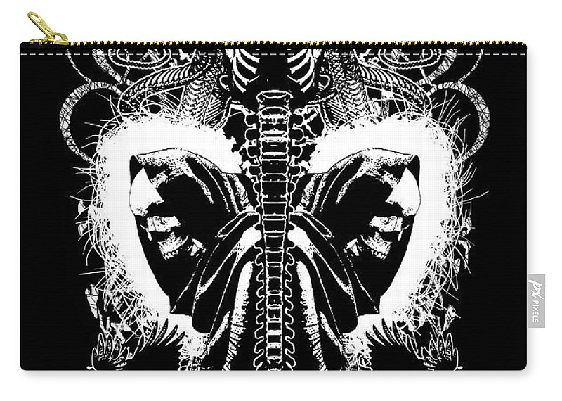 Tony Koehl Carry-all Pouch featuring the mixed media Spine Of Mine by Tony Koehl
