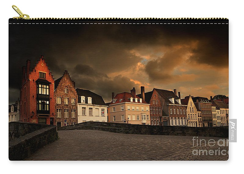 Spinolarei Carry-all Pouch featuring the photograph Spinolarei At Dusk Bruges by Louise Heusinkveld
