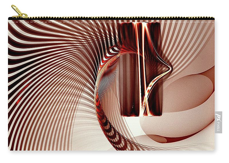 Spiral Carry-all Pouch featuring the digital art Spiral-2 by Klara Acel