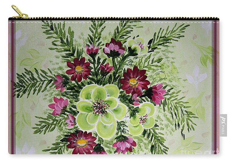 Spiral Bouquet Carry-all Pouch featuring the painting Spiral Bouquet by Barbara Griffin