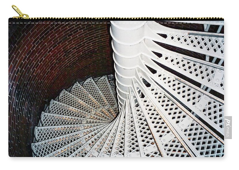 Lighthouse Carry-all Pouch featuring the photograph One Step Leads To Another by Art Dingo