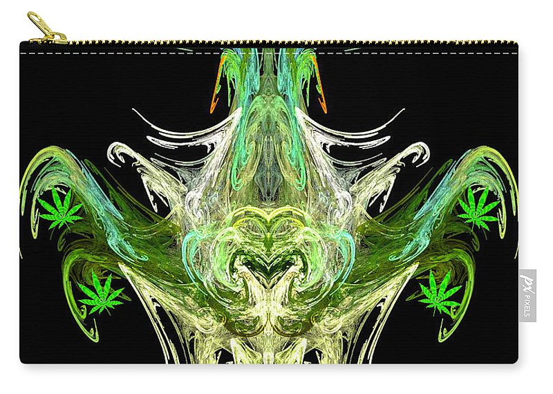 Spirit Carry-all Pouch featuring the digital art Spirit Of The Leaf by Diana Haronis