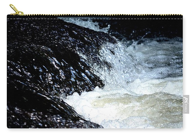 Water Carry-all Pouch featuring the photograph Splashes And Suds by Maria Urso