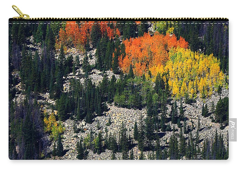 Autumn Colors Photograph Carry-all Pouch featuring the photograph Splashes Of Fall by Jim Garrison
