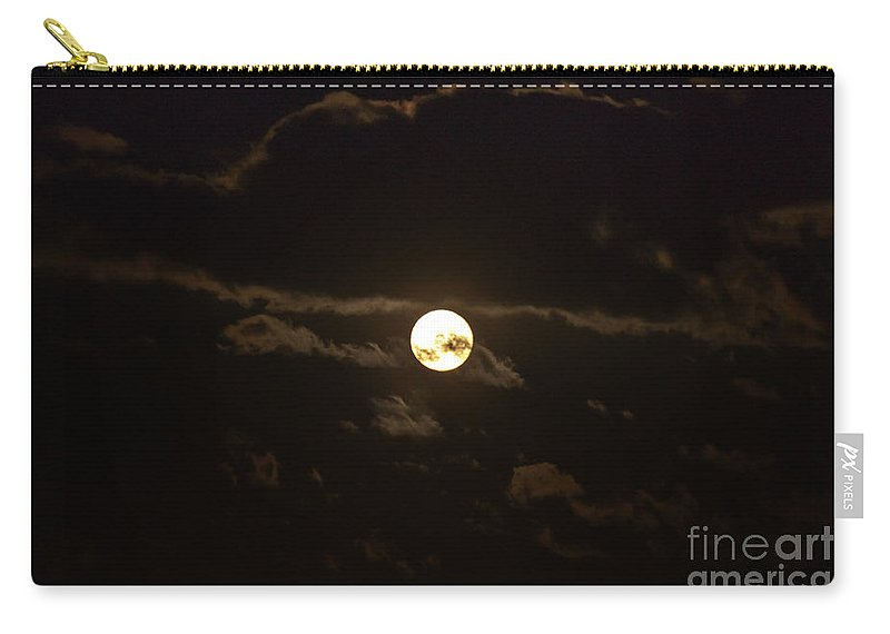 Moon Carry-all Pouch featuring the photograph Spooky Night by Cheryl Baxter