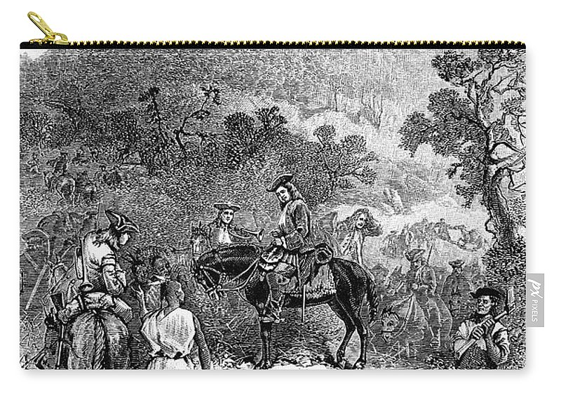 1716 Carry-all Pouch featuring the photograph Spotswoods Expedition by Granger