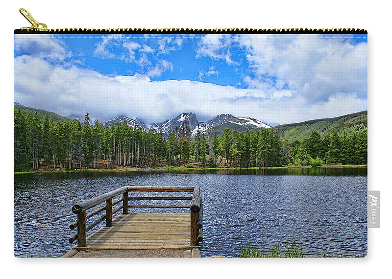 Sprague Lake Carry-all Pouch featuring the photograph Sprague Lake by Alan Hutchins