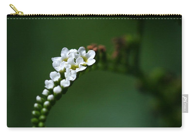 Flower Carry-all Pouch featuring the photograph Spray Of White Flowers by Sabrina L Ryan