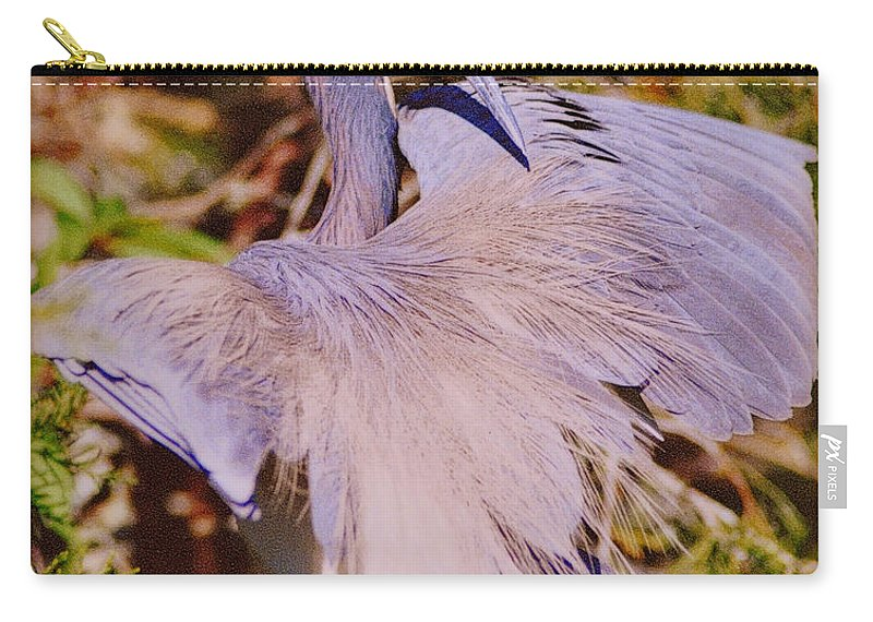 Blue Heron Carry-all Pouch featuring the photograph Spread Out by Lydia Holly