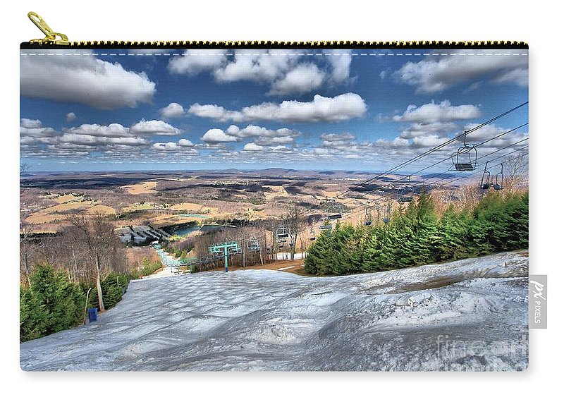 Skiing Carry-all Pouch featuring the photograph Spring Bumps by Adam Jewell