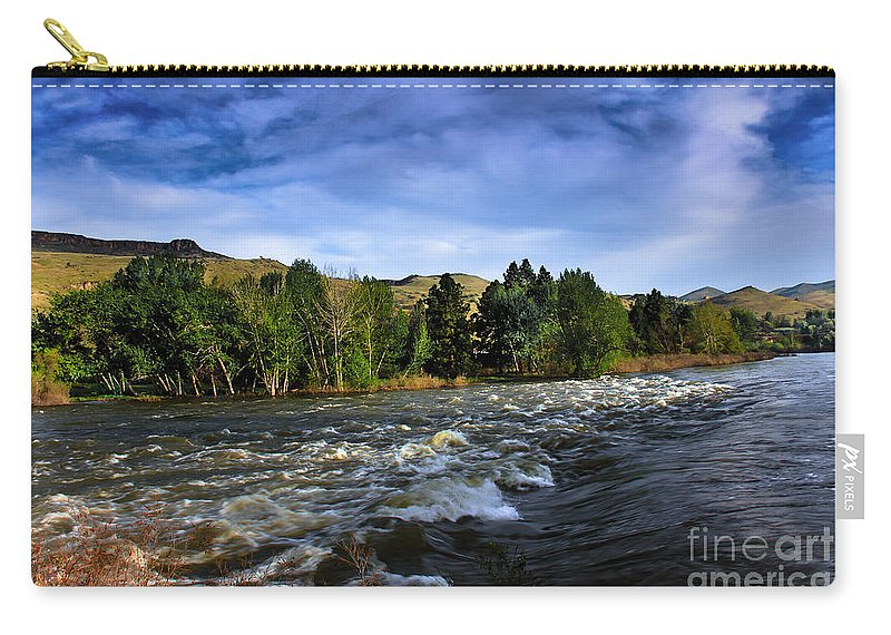 Emmett Carry-all Pouch featuring the photograph Spring Flow by Robert Bales