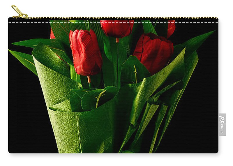 Red Carry-all Pouch featuring the photograph Spring Flowers by Edward Fielding