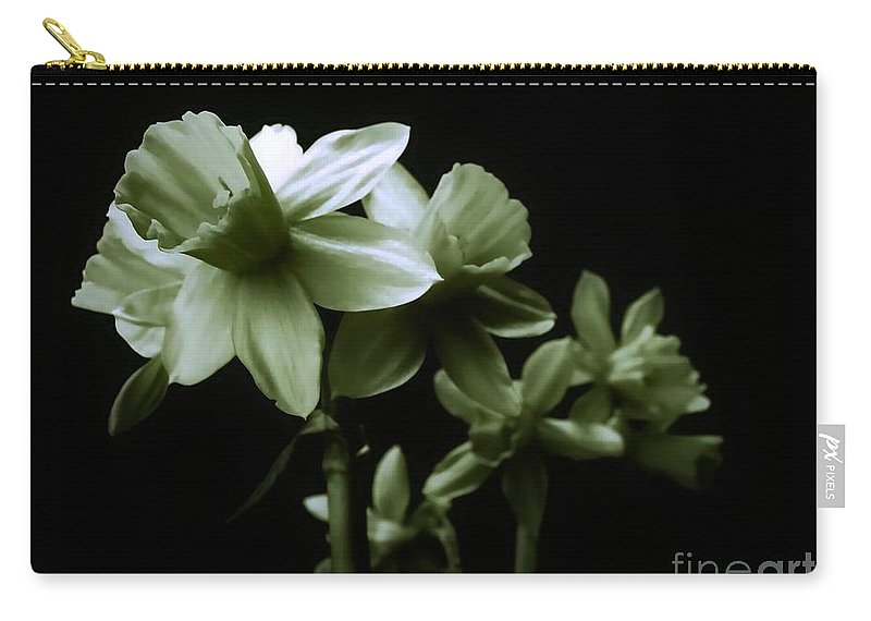 Daffodils Carry-all Pouch featuring the photograph Spring Form by Art Dingo