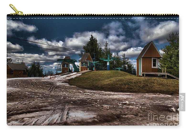 Spring Skiing Carry-all Pouch featuring the photograph Spring Skiing by Adam Jewell