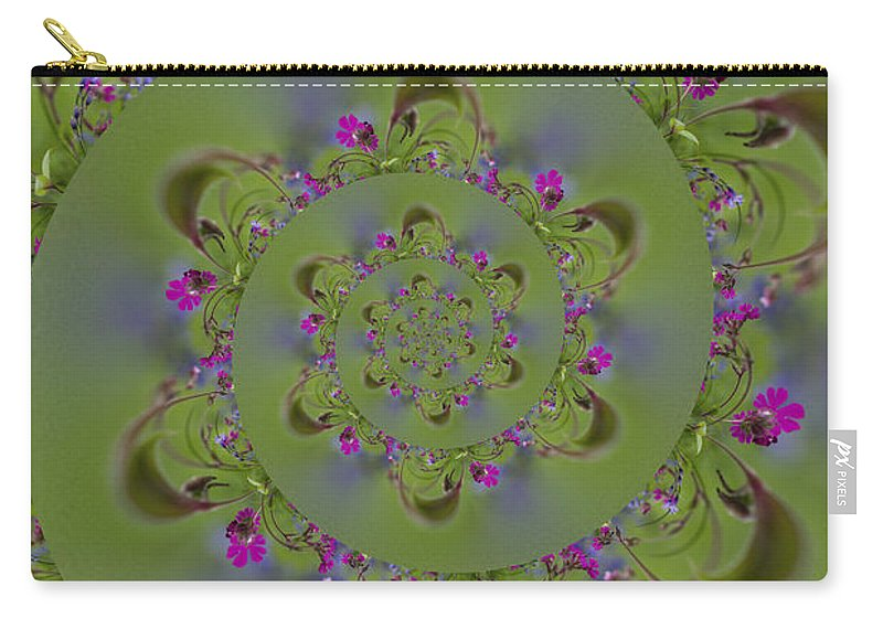 Spiral Carry-all Pouch featuring the photograph Spring Spiral. by Clare Bambers