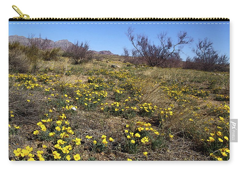 Poppy Carry-all Pouch featuring the photograph Spring Surprise Franklin Mountains by Kurt Van Wagner