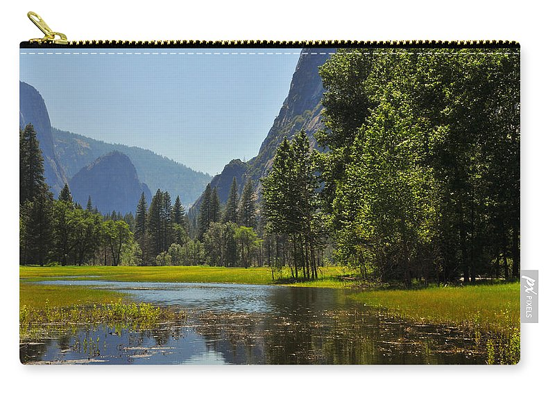 Yosemite Carry-all Pouch featuring the photograph Spring Thaw by Lynn Bauer