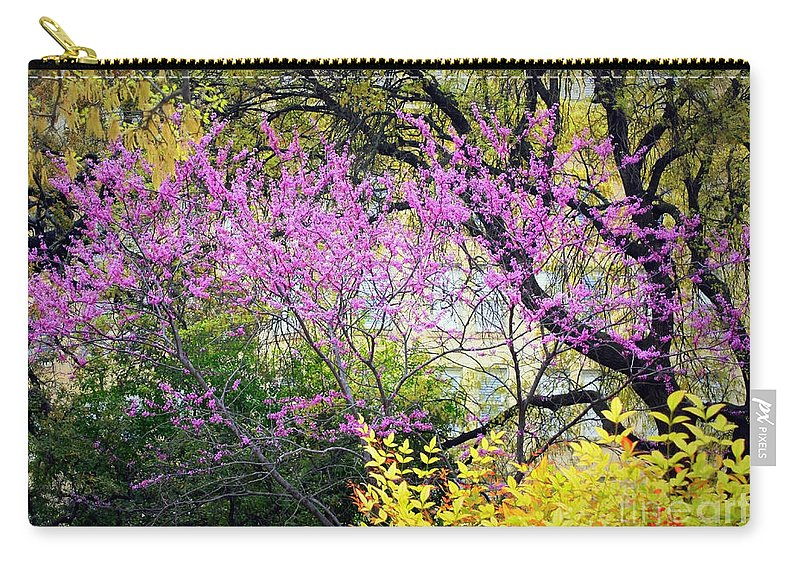 Texas Carry-all Pouch featuring the photograph Spring Trees In San Antonio by Carol Groenen