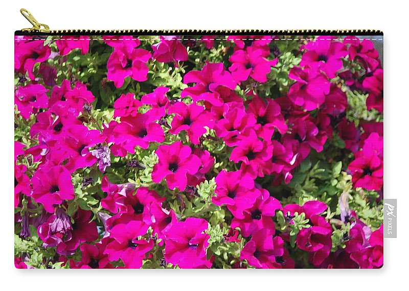 Pink Carry-all Pouch featuring the photograph Springtime Flowers by Michael Merry