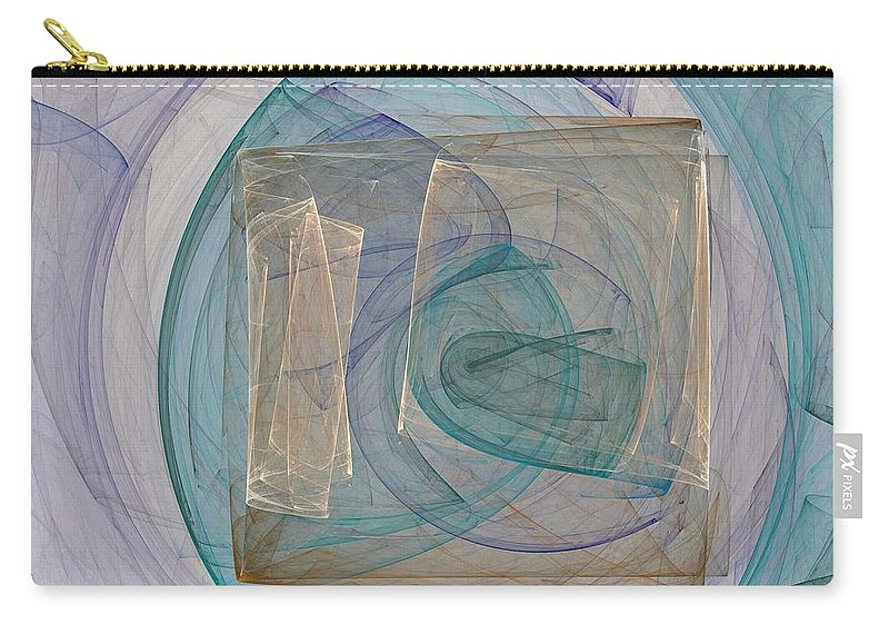 Square Carry-all Pouch featuring the digital art Squared by Christy Leigh