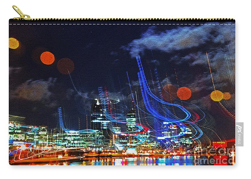 Perth Carry-all Pouch featuring the photograph Squiggles by Rob Hawkins