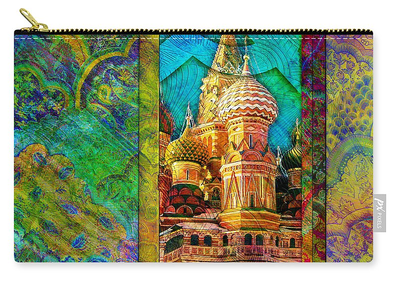 Kremlin Carry-all Pouch featuring the digital art St Basils by Barbara Berney