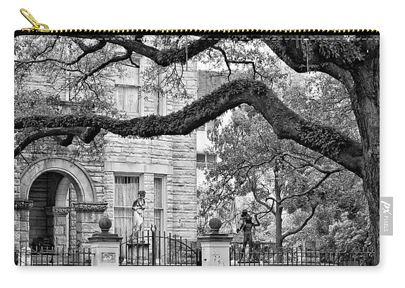 Home Carry-all Pouch featuring the photograph St. Charles Ave. Monochrome by Steve Harrington