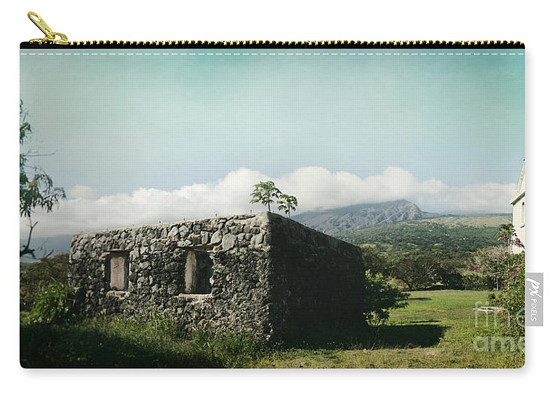 Carry-all Pouch featuring the photograph St. Joseph's Church Kaupo Maui Hawaii by Sharon Mau