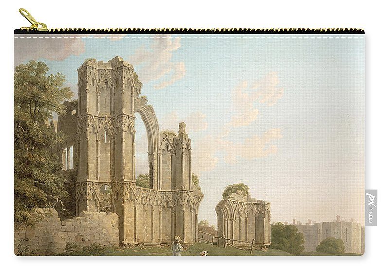 Mary Carry-all Pouch featuring the painting St Mary's Abbey -york by Michael Rooker