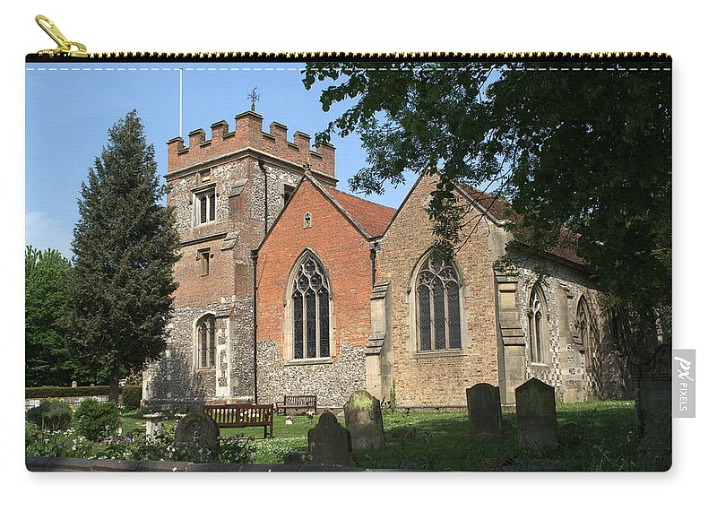 Carry-all Pouch featuring the photograph St Marys Harefield by Chris Day