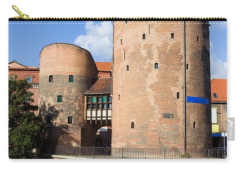 Gdansk Carry-all Pouch featuring the photograph Stagiewna Gate Gothic Tower by Artur Bogacki