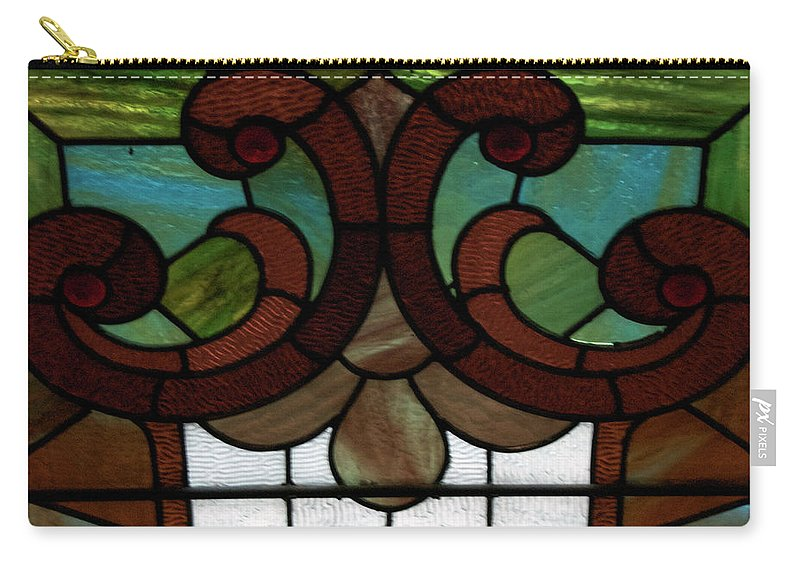 Glass Art Carry-all Pouch featuring the photograph Stained Glass Lc 08 by Thomas Woolworth
