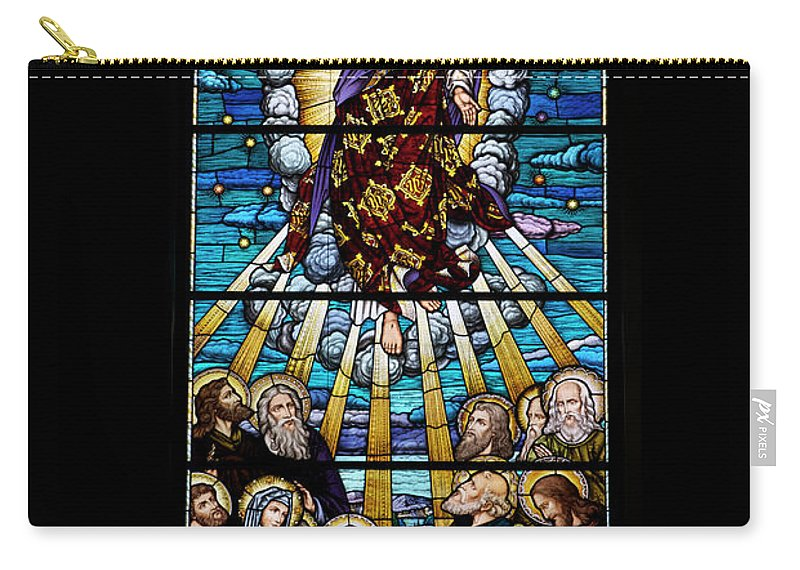 Glass Art Carry-all Pouch featuring the digital art Stained Glass Pc 01 by Thomas Woolworth