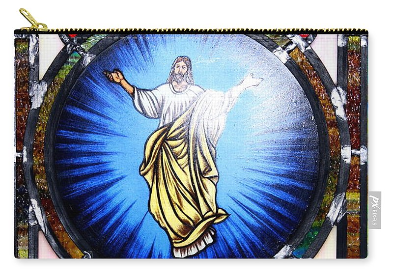 Stained Glass Carry-all Pouch featuring the photograph Stained Glass by Travis Truelove