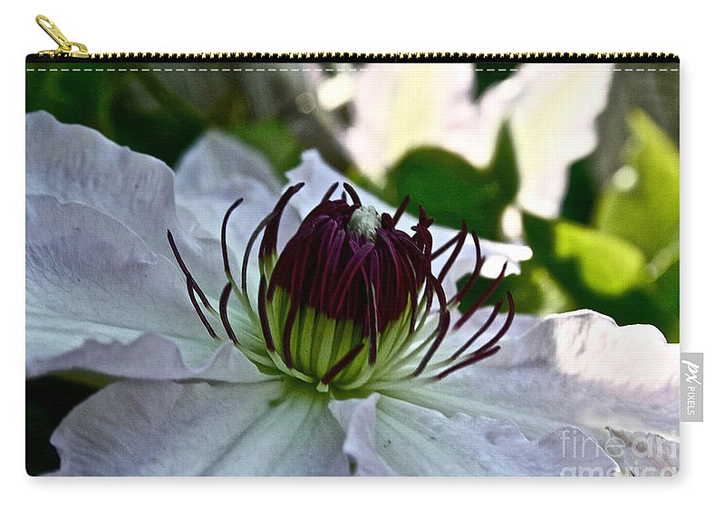 Plant Carry-all Pouch featuring the photograph Stamen by Susan Herber