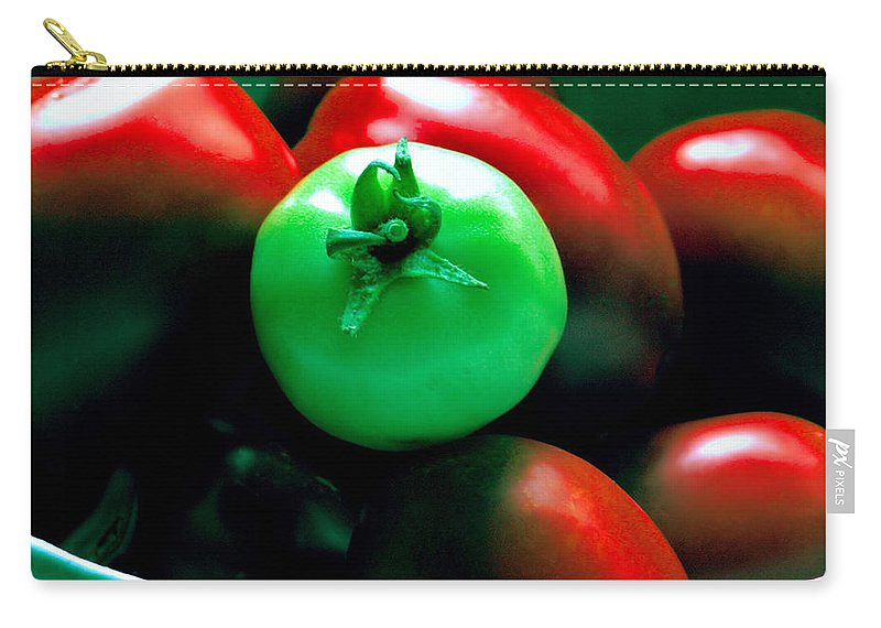 Tomato Carry-all Pouch featuring the photograph Standing Out In A Crowd by Rory Sagner