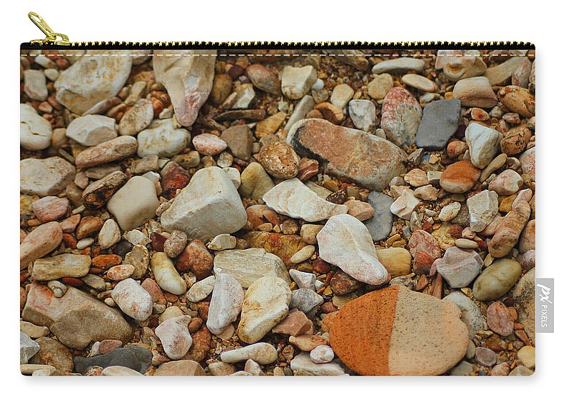 Rocks Carry-all Pouch featuring the photograph Standing Out by Karen Wagner