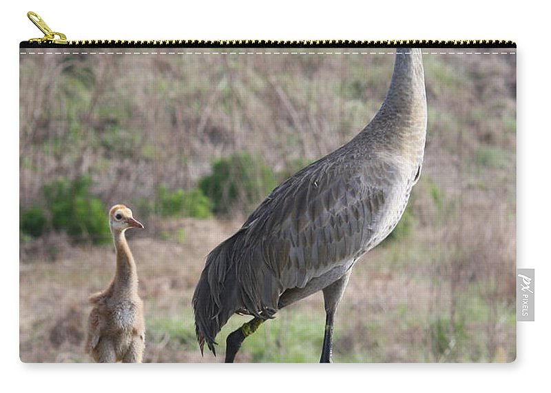 Bird Carry-all Pouch featuring the photograph Standing Tall by Carol Groenen