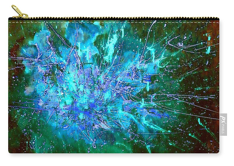 Stars Carry-all Pouch featuring the painting Star Burst In The Milky Way by Giro Tavitian