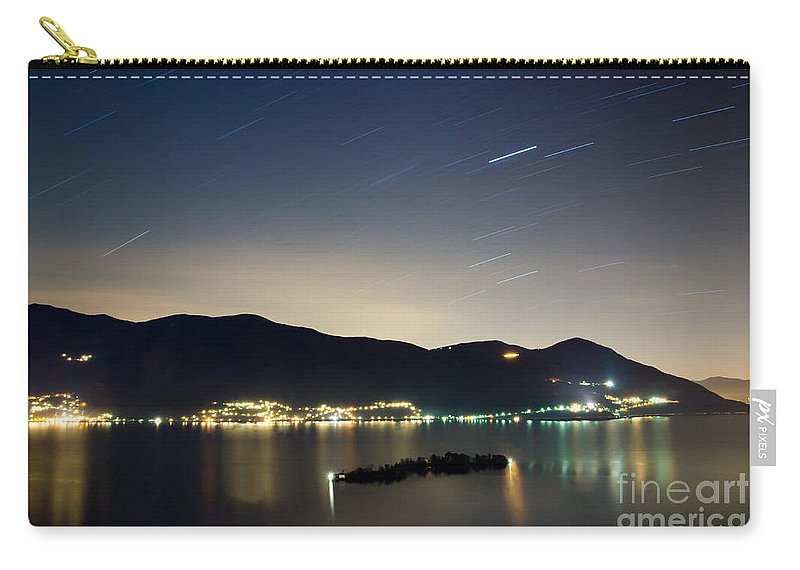 Island Carry-all Pouch featuring the photograph Star Trails by Mats Silvan