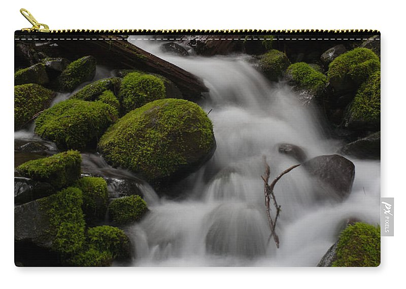 Olympic National Park Carry-all Pouch featuring the photograph Stepping Stones by Mike Reid