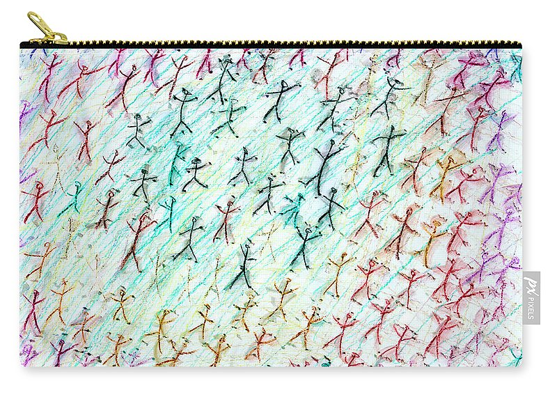 Abstract Carry-all Pouch featuring the painting Stickmen Seventeen Days After Nine Eleven by Carl Deaville