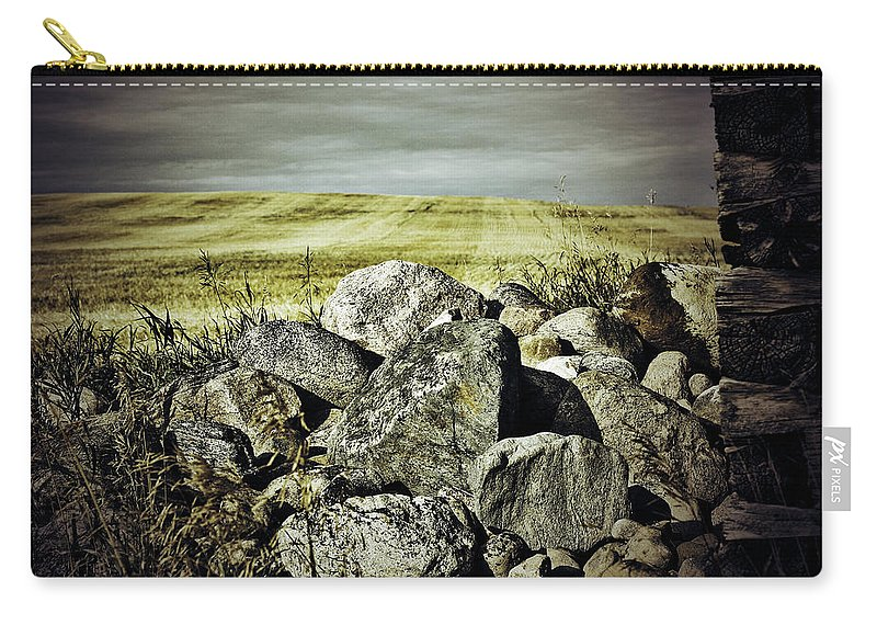 Photographer Carry-all Pouch featuring the photograph Sticks And Stones by The Artist Project